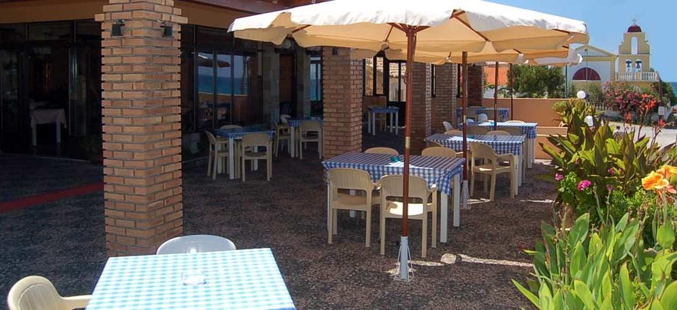 Enjoy the sun or choose a table under an umbrella